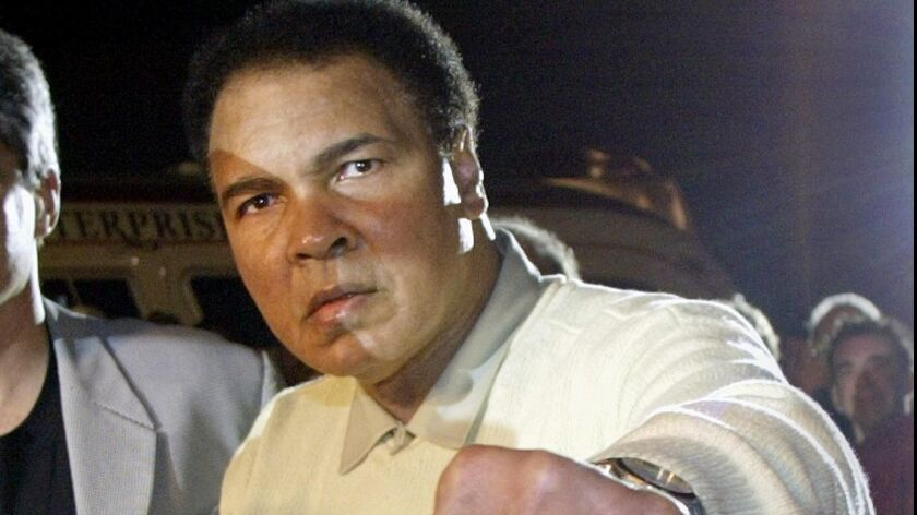 (FILES) Boxing legend Muhammad Ali takes