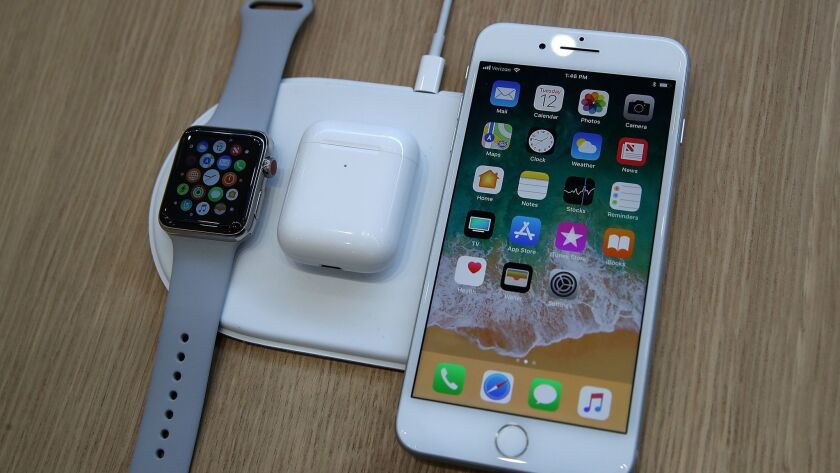 Apple's AirPower wireless charging mat was intended to charge an Apple Watch, iPhone and AirPods earphones all at once without connecting them to cables.