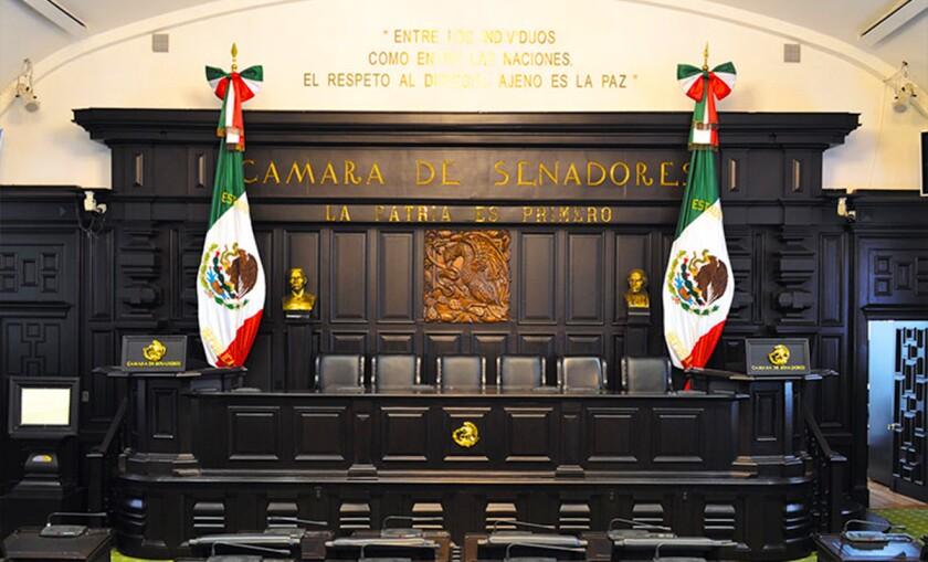 La Cámara de Senadores de México.