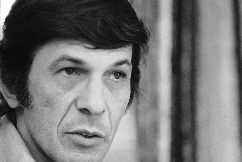 "FILE - In this June 28, 1973 file photo, actor Leonard Nimoy speaks during an interview in New York. Nimoy, famous for playing officer Mr. Spock in ""Star Trek"" died Friday, Feb. 27, 2015 in Los Angeles of end-stage chronic obstructive pulmonary disease. He was 83. (AP Photo/Jerry Mosey, File)"