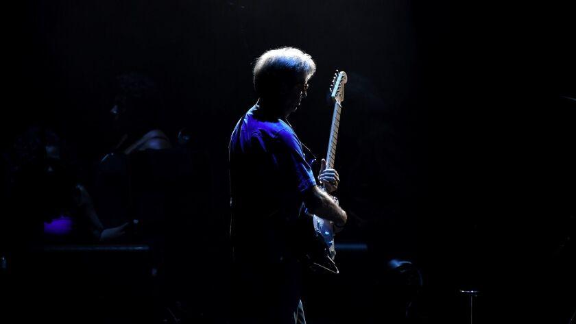 INGLEWOOD, CALIFORNIA SEPTEMBER 14, 2017-Singer Eric Clapton performs at the Forum in Inglewood Wedn