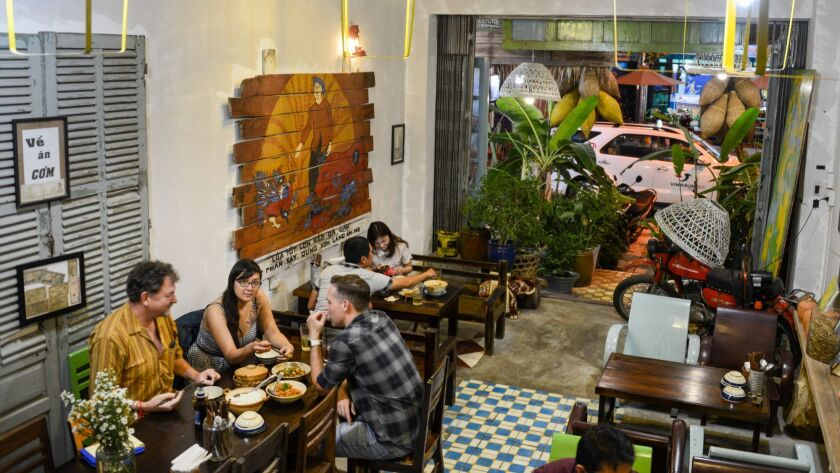 Bep Hen restaurant in Da Nang offers an invitingly retro environment, and the Vietnamese menu offers dishes that are wildly flavorful and inexpensive.