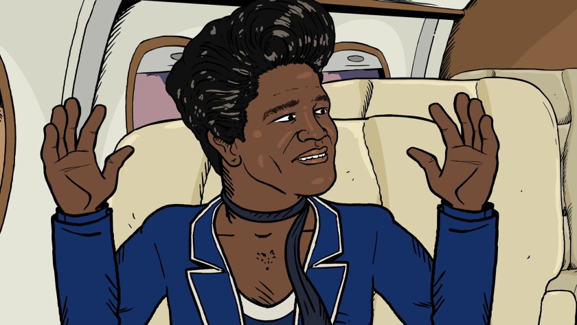 "James Brown in ""Mike Judge Presents: Tales From the Tour Bus"" on Cinemax."