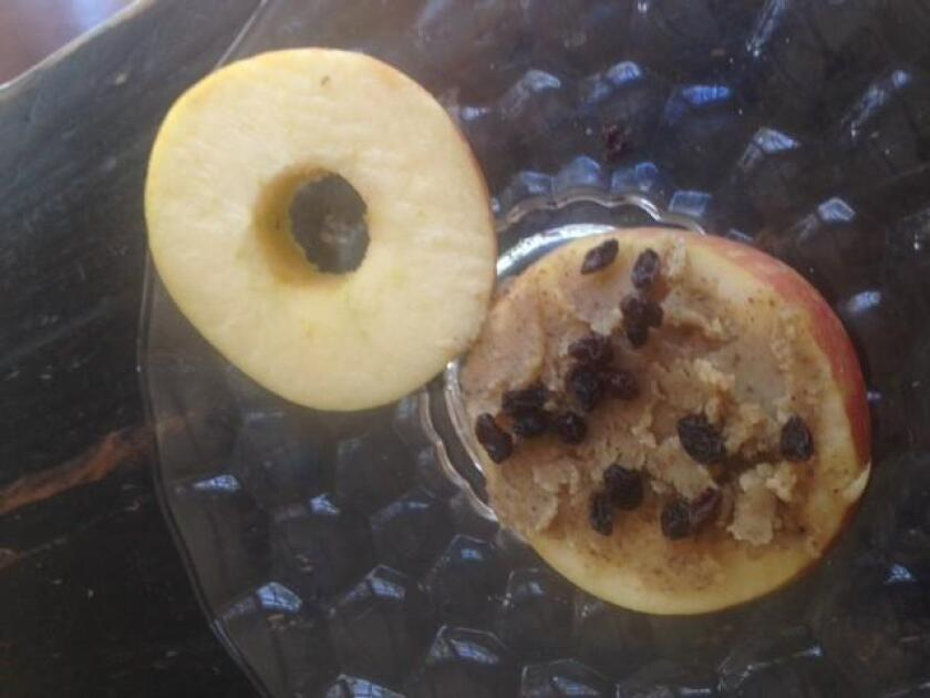 Apple and Walnut Butter 'Sandwich'
