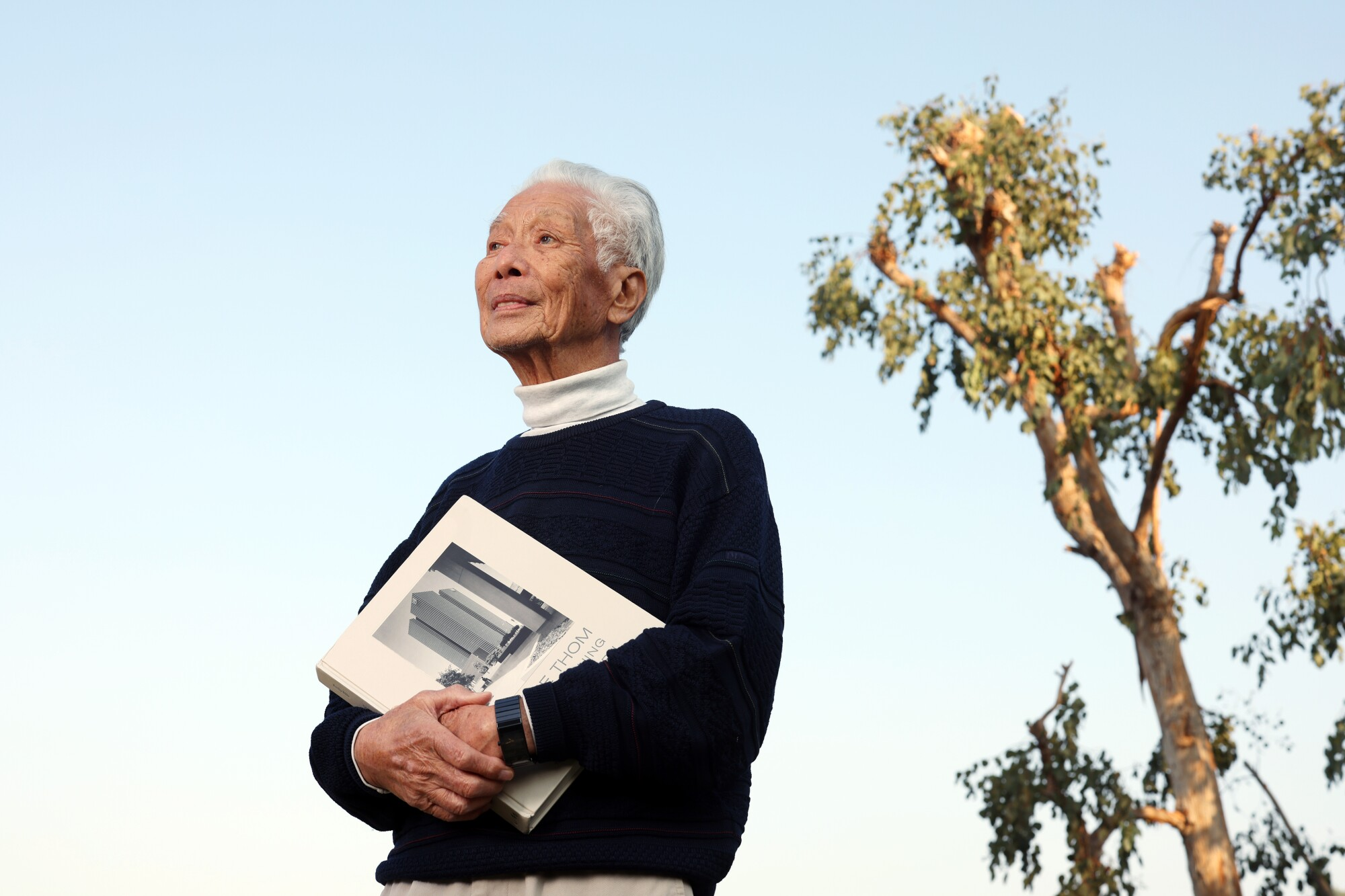 Architecture photographer Wayne Thom, 86, at his home in Rowland Heights.