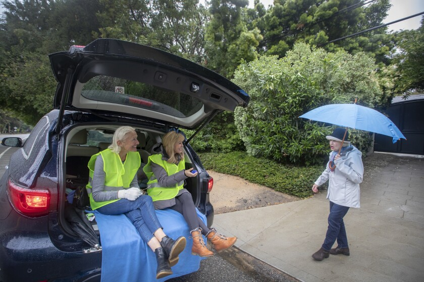 LOS ANGELES, CALIF. -- SUNDAY, MAY 19, 2019: Mandeville Canyon home owners association members Flo C