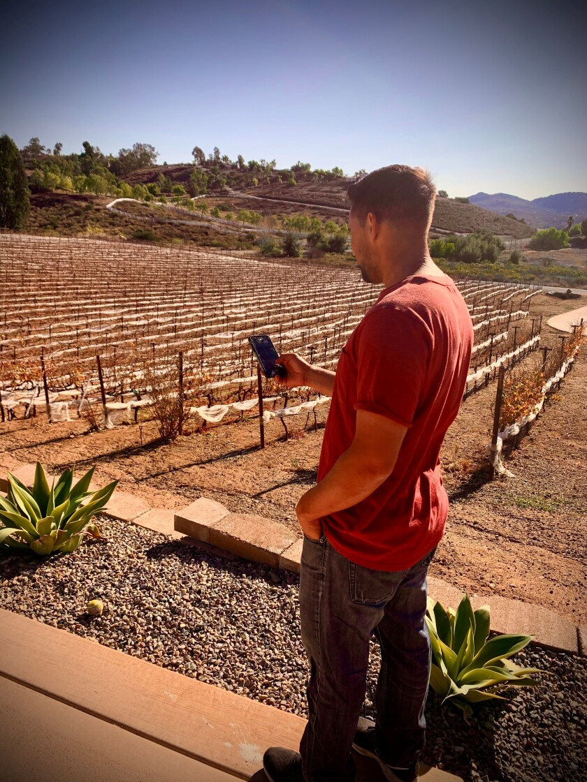 """Nelson Pizarro continues to improve and market his """"San Diego Wine Tasting App."""""""