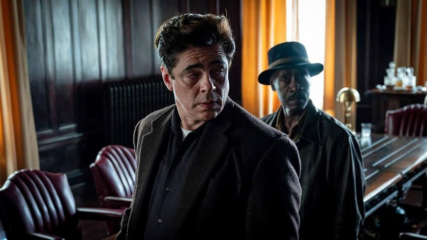 """Benicio del Toro and Don Cheadle in Steven Soderbergh's """"No Sudden Move."""""""