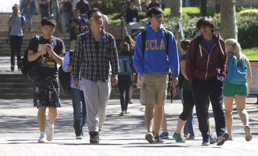 UCLA had 7,860 students on F-1 visas, the most common issued to foreign students, from 2008 to 2012, making it No. 15 among American universities.
