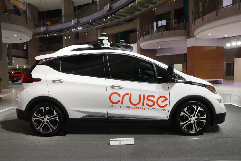 Cruise AV, General Motor's autonomous electric Bolt EV