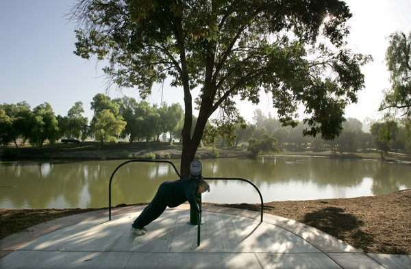 New Exercise Equipment at Lindo Lake Park in Lakeside