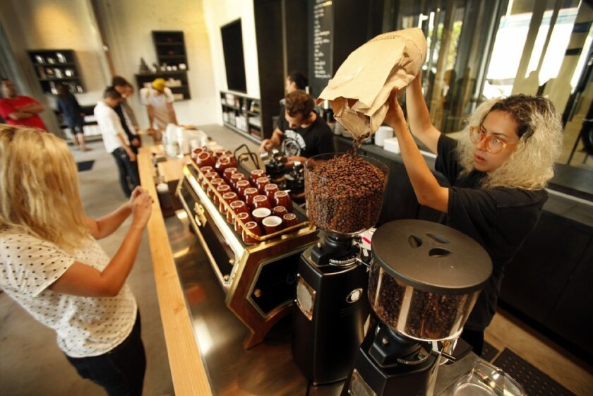 The price of coffee beans is at a four-year low.