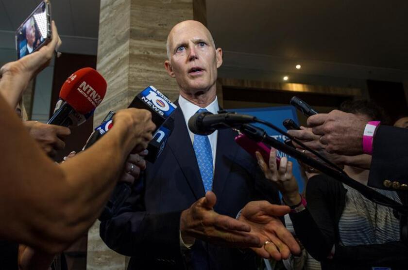El gobernador de Florida, Rick Scott, suspendió hoy a la alcaldesa de la localidad de Hallandale Beach (sureste de Florida), Joy Cooper, quien este jueves fue detenida acusada de lavado de dinero y otros cargos. EFE/ARCHIVO