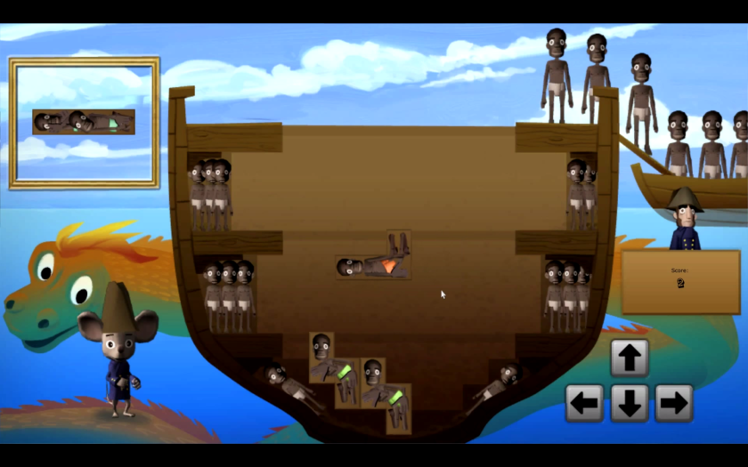 """A screenshot of the now-removed """"Slave Tetris"""" portion of """"Playing History 2 – Slave Trade"""""""