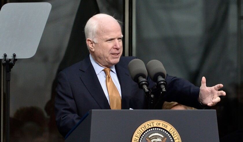 John McCain is leading a bipartisan group of U.S. senators that is requesting FIFA move the 2018 World Cup out of Russia.