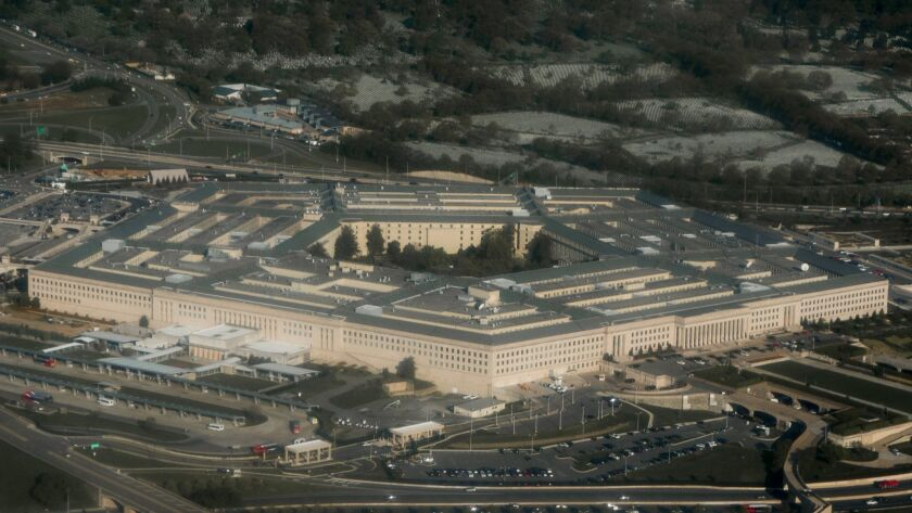 Packages suspected of containing ricin were mailed to the Pentagon, an official said on Tuesday.