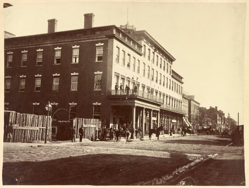 The Mansion House Hospital during the Civil War.