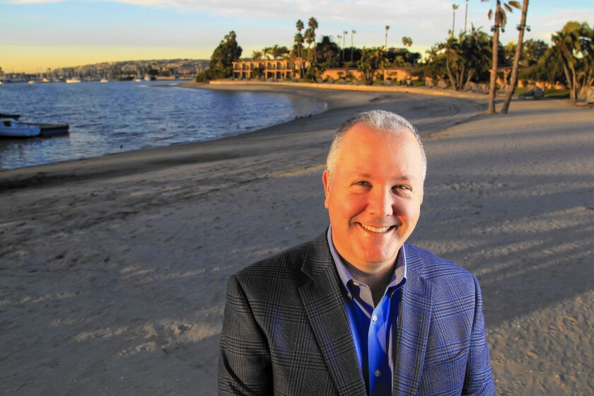 Robert Gleason is president of Evans Hotels, which already has two Mission Bay resorts near SeaWorld and will partner with the San Diego marine park in building a branded SeaWorld hotel.