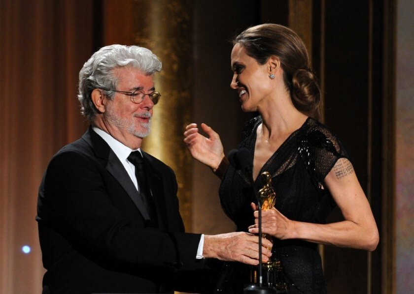 Angelina Jolie and George Lucas
