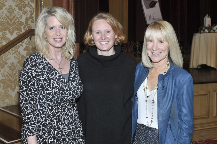 RSF Literary Society chapter leader Kelly Colvard, author Tilar J. Mazzeo, Chapter President Candace Humber. Photo by McKenzie Images