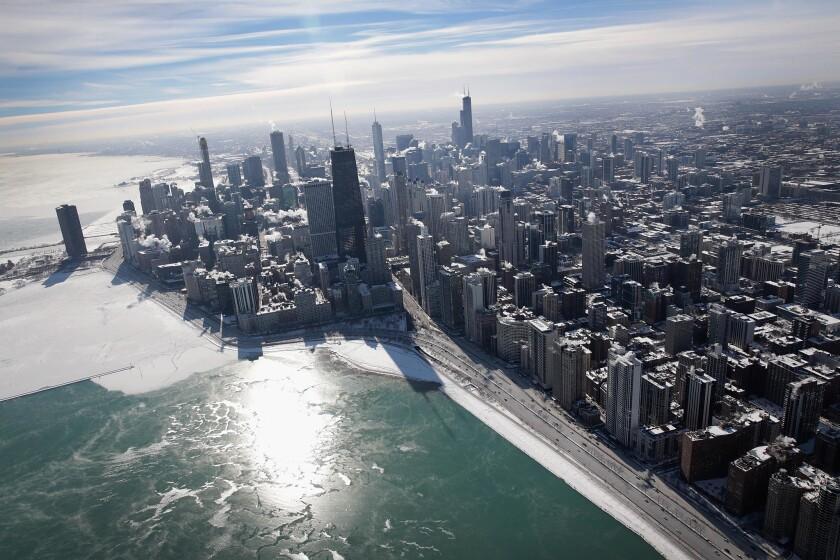 En Chicago la temperatura que señala hoy el termómetro es de -11 grados centígrados. (Photo by Scott Olson/Getty Images)