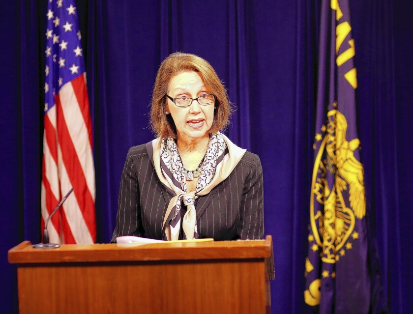 Oregon Atty. Gen. Ellen Rosenblum said the state would not defend its ban on same-sex marriage, which is the subject of federal litigation.