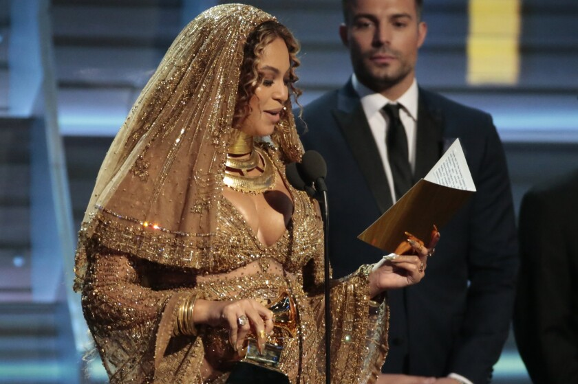 Beyonce at the 59th GRAMMY Awards