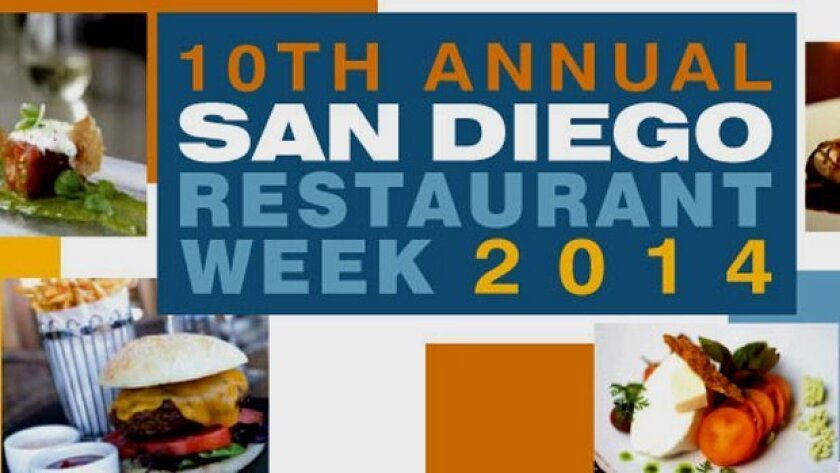 The 10th annual San Diego Restaurant Week takes place Sept. 21-26, 2014.