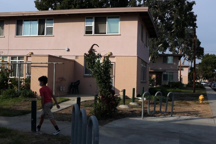 Apartments at the Mar Vista Gardens public housing complex in Los Angeles' Del Rey neighborhood.