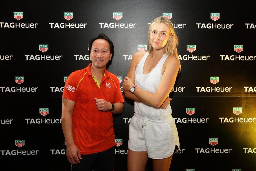 Maria Sharapova and Michael Chang