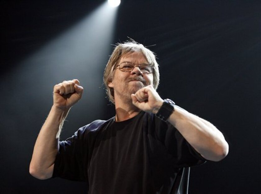 """FILE - In this Dec. 20, 2006 file photo, Bob Seger performs during his """"Face The Promise"""" tour stop at the Palace of Auburn Hills, Mich. Seger and his Silver Bullet Band are heading out on the road for the first time in 4½ years. In a news release Thursday, Jan. 27, 2011, Seger's management and rec"""