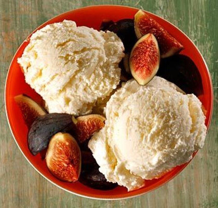 Ricotta-honey gelato with orange