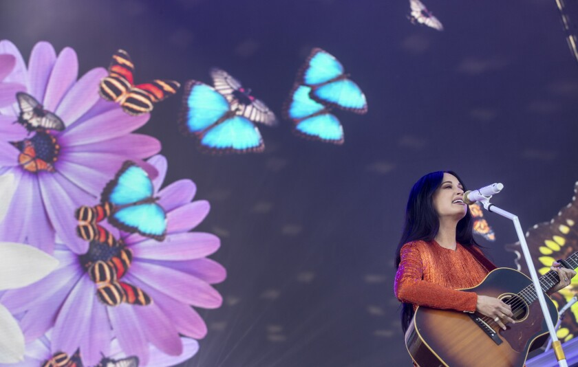 INDIO, CALIF. -- FRIDAY, APRIL 12, 2019: Kacey Musgraves onstage during day one at the Coachella Va