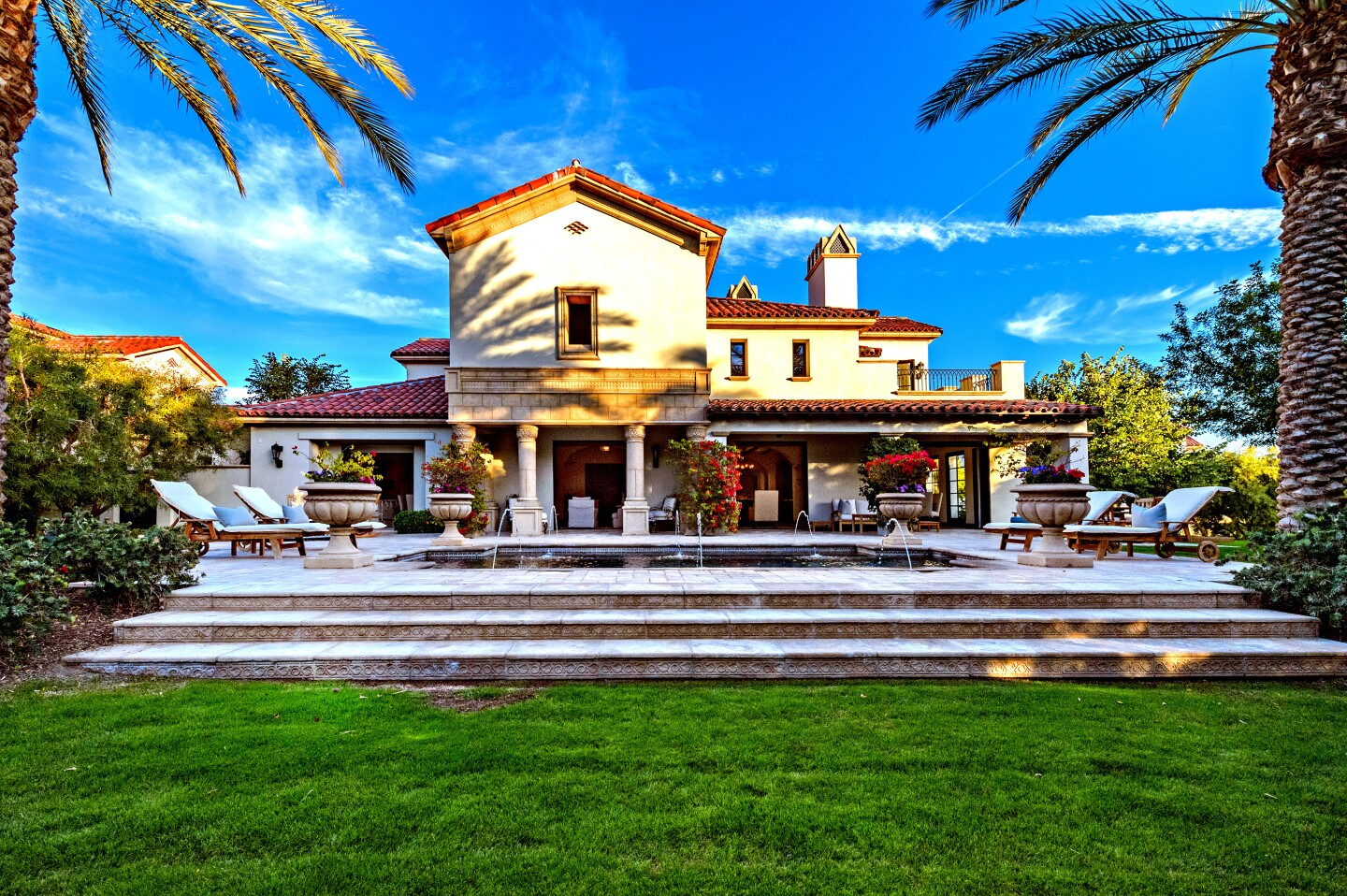 Sylvester Stallone is giving a home sale another go in La Quinta, where his retreat is on the market for $3.35 million. Stallone has been attempting to selling the 5,000-square-foot villa at the Madison Club for about five years. He bought the place a decade ago for $4.5 million. Spanish in style, the two-story villa features a grand living room, multiple outdoor spaces and a swimming pool. An expansive terrace overlooks the backyard.