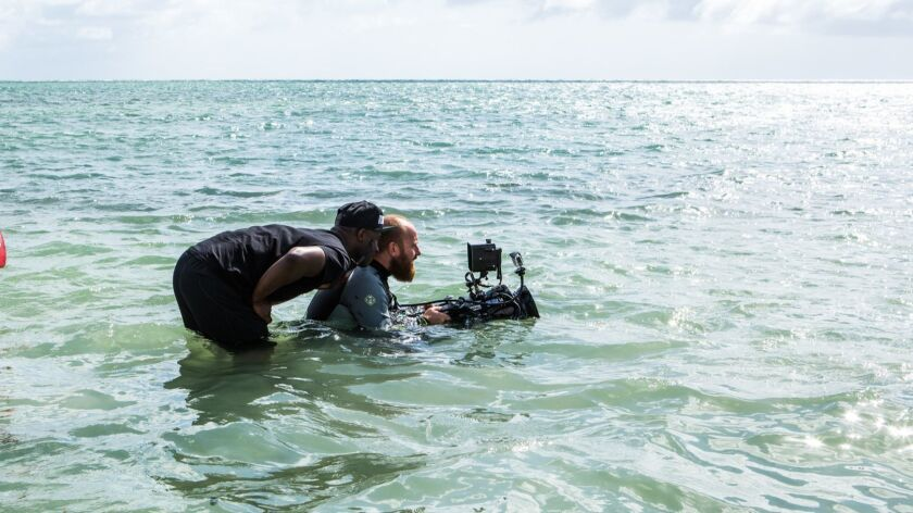 "Director Barry Jenkins and director of photography James Laxton shooting the film ""Moonlight."" Credi"