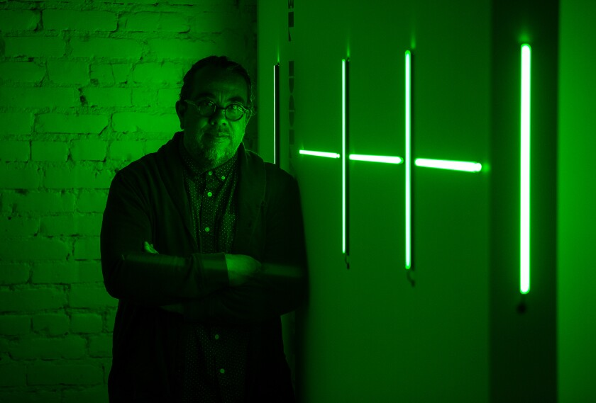 """Albert Lopez Jr. is an exhibiting artist at Crear Studio with his exhibition """"The Dollar Dance I Never Had."""""""