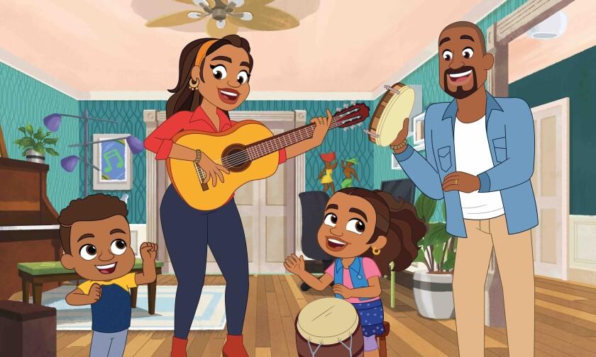 """En esta imagen difundida por PBS Kids, una escena de la serie animada """"Alma's Way"""" enfocada en Alma Rivera"""