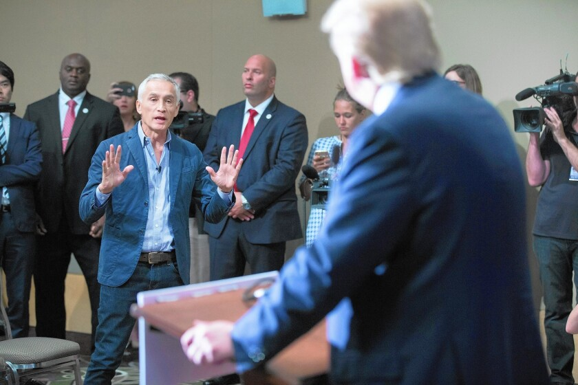 Univision's Jorge Ramos' confrontation with Trump over immigration is a case of deja vu