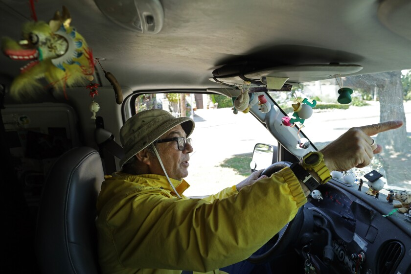 Mike Watt goes for a spin in his Ford Econoline van