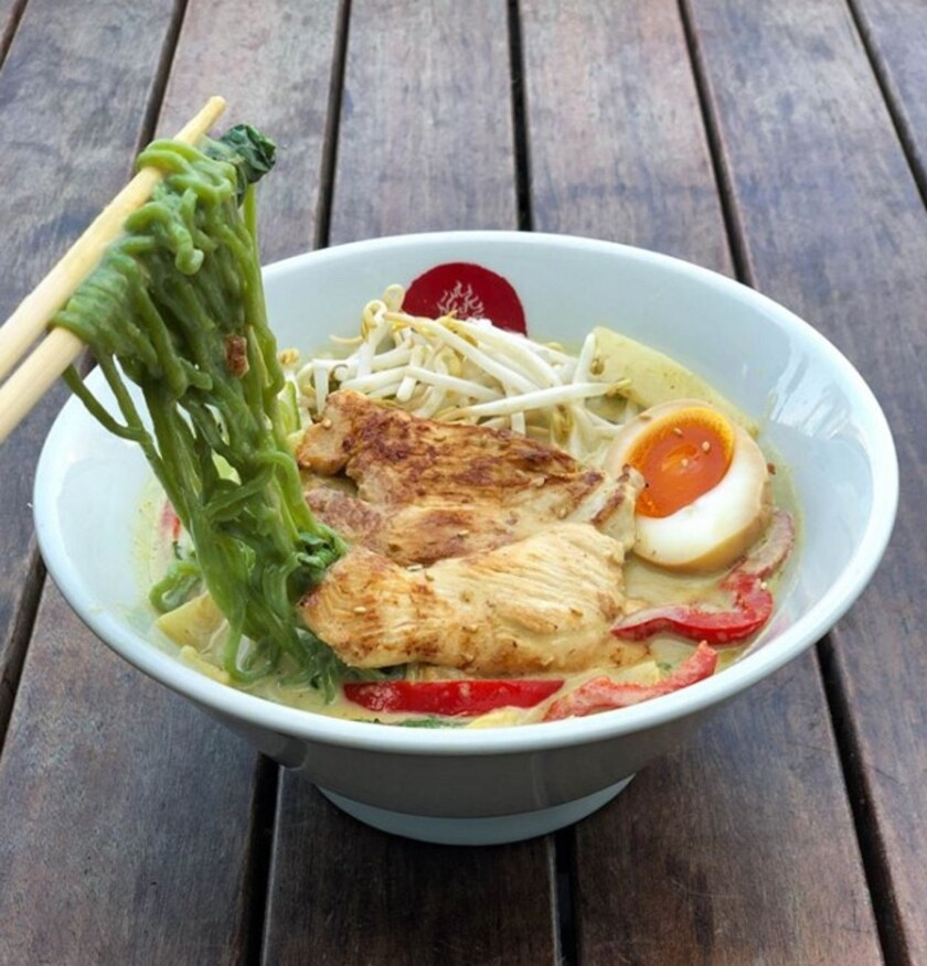 Lucky's Green Coconut Curry Ramen will be available St. Patrick's Day at all Tajima locations.
