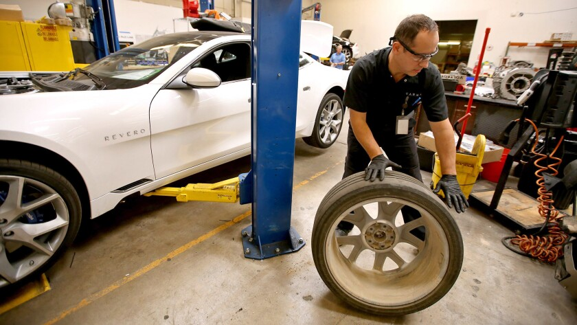 Virgil Chis, 43, lost his job tuning engines when Fisker Automotive, the luxury electric car company based in Anaheim, collapsed into bankruptcy back in 2013.