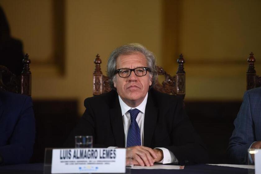 """El secretario general de la OEA, Luis Almagro, pidió hoy a los países miembro del organismo que aprueben el informe de la misión de observación electoral en Honduras, que concluyó que no se puede determinar un ganador de los comicios del 26 de noviembre por el """"cúmulo de irregularidades"""". EFE/ARCHIVO"""