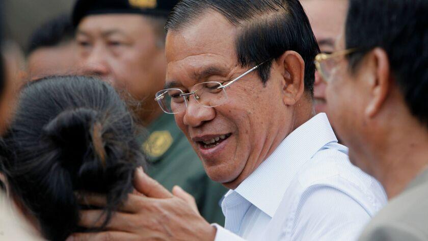 Cambodian Prime Minister Hun Sen campaigns in Kandal, Cambodia - 04 Jul 2018