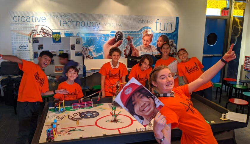 Team Architech from Muirlands Middle School are this year's First LEGO League Spring Showdown winners.