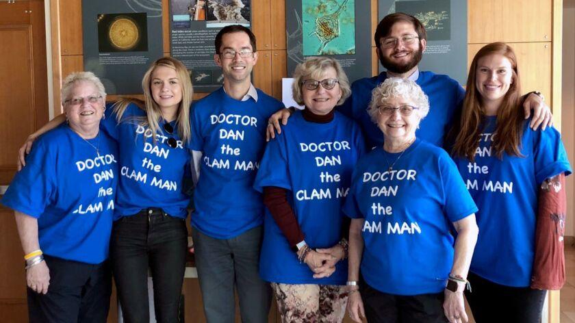 Family members of La Canada High School alum Dan Killam wear T-shirts bearing Killam's nickname to m