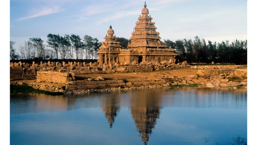 The Shore Temple in Tamil Nadu, India
