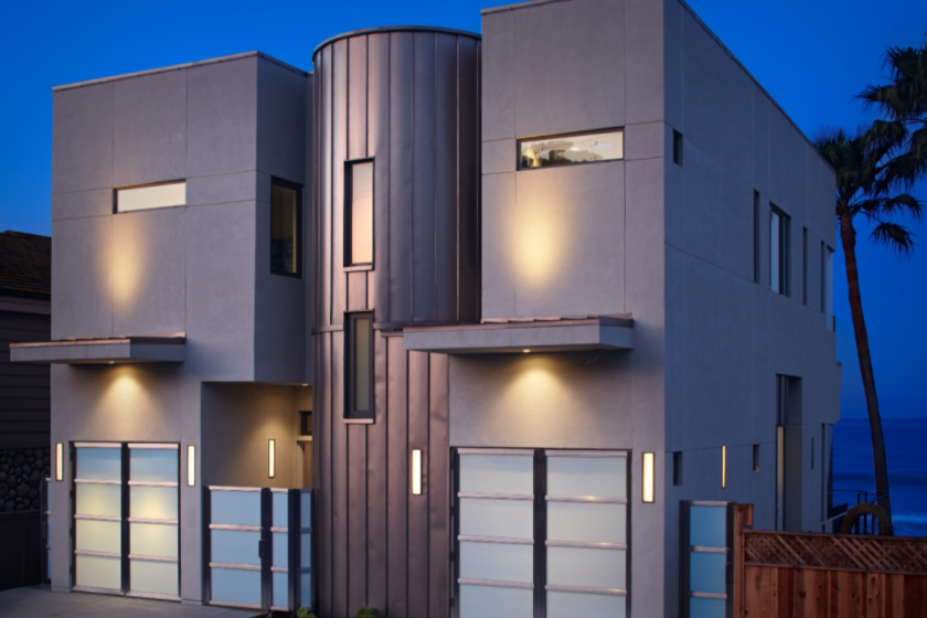 The two-story home was built with an emphasis on efficiency and boasts a net-zero carbon footprint.