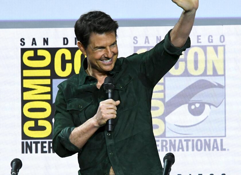 El astro de Hollywood durante su asistencia de hoy a la Comic Con de San Diego.