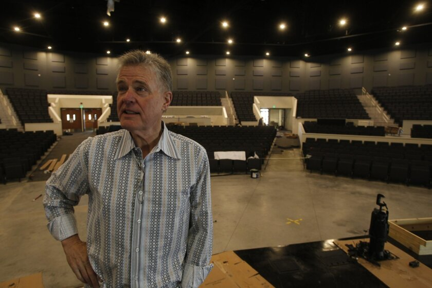 Pastor Jim Garlow, inside the new sanctuary at Skyline Church.