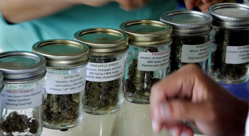 Medical marijuana at a dispensary in San Diego
